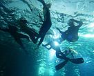 Aspiranterne skulle på med snorklen og dykke i Kattegatcentrets store Ocenarium blandt hajer, rokker og hvirvlende fiskestimer for at finde ledetråde i konkurrencen.