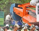 Foto fra ceremonien forleden hvor den thailandske regering for første gang nogen sinde destruerede ulovlig importeret elfenben.