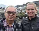 Gitte Seeberg sammen med Hjalmar Dahl, præsident for ICC i Grønland.