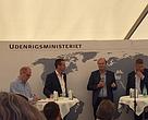 Udenrigsminister Kristian Jensen og ansatte ved Udenrigsministeriet fremlægger regeringens udspil til en ny udviklingsstrategi på Folkemødet på Bornholm.